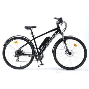 VÉLO ASSISTANCE ÉLEC MAKADAM  Vélo électrique VAE E-TRAX - Noir