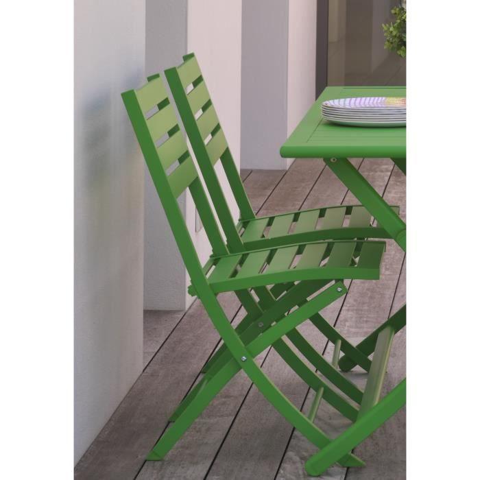FAUTEUIL JARDIN  ALUMOB Lot de 2 chaises de jardin pliantes Marius
