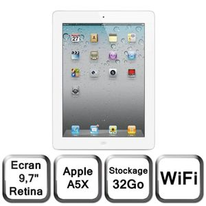 "TABLETTE TACTILE Apple Nouvel iPad blanc 9,7"" LED 32 Go WiFi"