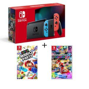 CONSOLE NINTENDO SWITCH Console Nintendo Switch Néon + Super Mario Party +