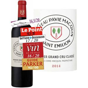 VIN ROUGE Château Pavie-Macquin Saint-Emilion Grand Cru Roug