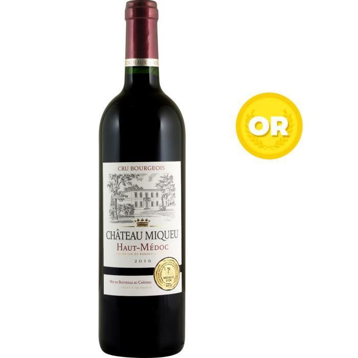 VIN ROUGE Château Miqueu 2016 Haut-Médoc - Vin rouge de Bord
