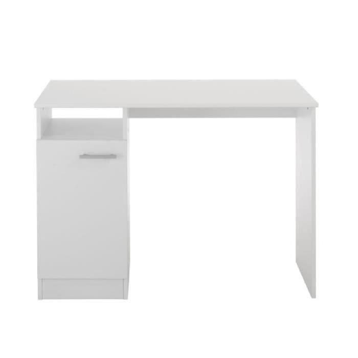 essentielle bureau classique d cor blanc meg ve l 100 cm achat vente bureau essentielle. Black Bedroom Furniture Sets. Home Design Ideas