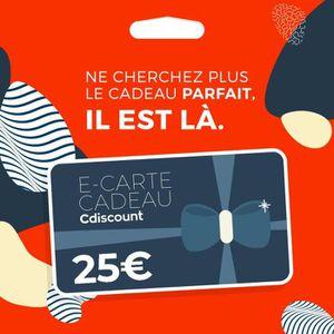 E-carte cadeau Cdiscount 25€