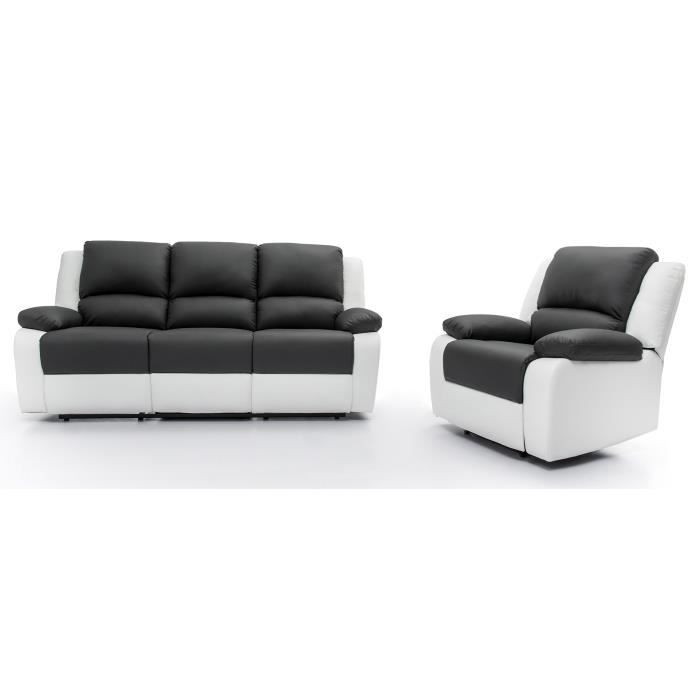 relax ensemble canap relaxation 3 places fauteuil. Black Bedroom Furniture Sets. Home Design Ideas