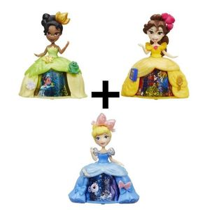 POUPÉE DISNEY PRINCESSES - Pack de 3 Mini-poupées robe to