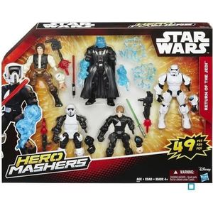 FIGURINE - PERSONNAGE STAR WARS -  Pack 5 Figurines Hero Mashers avec le