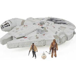 FIGURINE - PERSONNAGE STAR WARS - Faucon Millenium au Combat + figurines