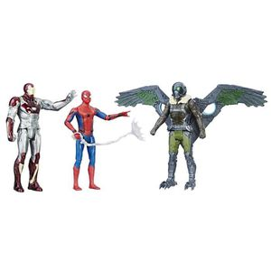 FIGURINE - PERSONNAGE SPIDERMAN - Pack de 3 Figurines 15cm du film