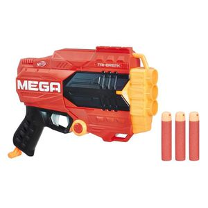 PISTOLET BILLE MOUSSE NERF MEGA - Tri Break