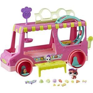 FIGURINE - PERSONNAGE LITTLEST PETSHOP Hasbro - Food Truck + 3 Figurines