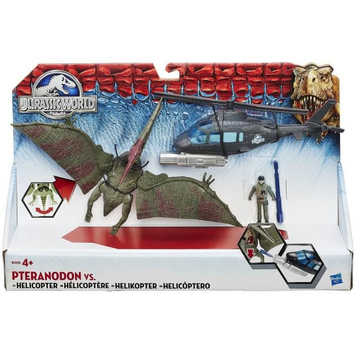 jurassic world pteranadon vs helico achat vente figurine personnage cdiscount. Black Bedroom Furniture Sets. Home Design Ideas