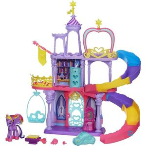 FIGURINE - PERSONNAGE HASBRO Figurine Mon Petit Poney Rainbow Chateau de
