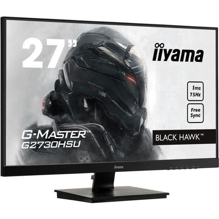 ECRAN ORDINATEUR Ecran PC Gamer - IIYAMA G-Master Black Hawk G2730H