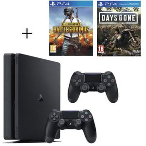 CONSOLE PS4 Pack Playstation : PS4 500Go + PUBG + Days Gone +