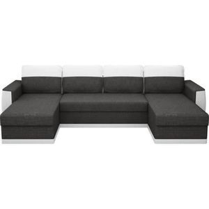 CANAPÉ - SOFA - DIVAN JAMES Canapé d'angle panoramique convertible 5 pla