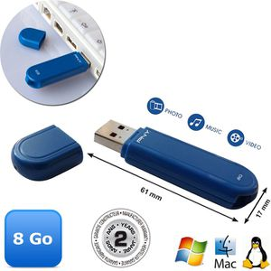 CLÉ USB PNY Oxford USB 2.0 8 Go