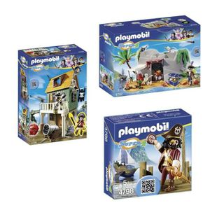 UNIVERS MINIATURE PLAYMOBIL Pack Super 4 complet pirate