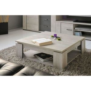 TABLE BASSE LOFT Table basse carrée style contemporain décor b