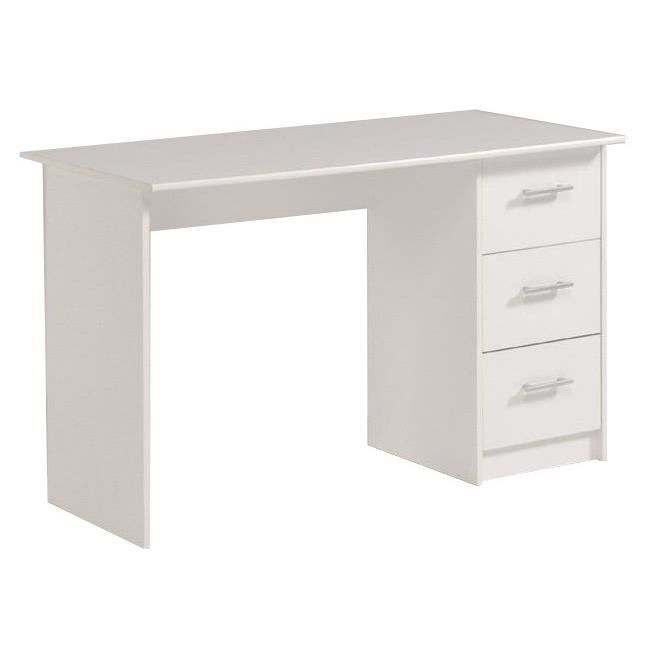 bureau laqu blanc pas cher table bureau console avec. Black Bedroom Furniture Sets. Home Design Ideas