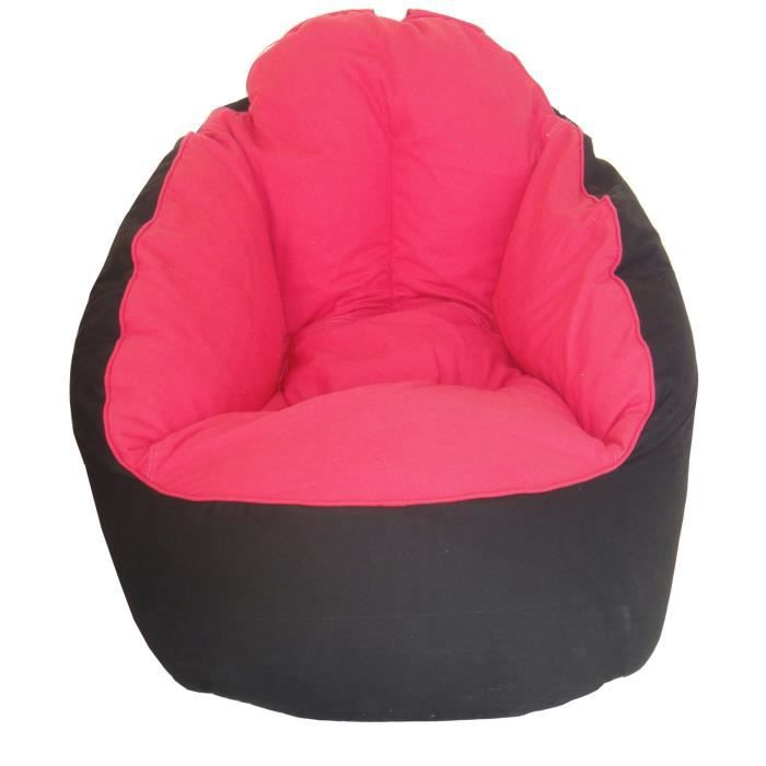 fauteuil pouf miljet noir fushia 65 x75 cm achat vente. Black Bedroom Furniture Sets. Home Design Ideas