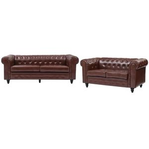 ENSEMBLE CANAPES EDGAR Ensemble canapés droit fixe chesterfield 3 +