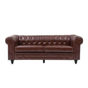 CANAPÉ - SOFA - DIVAN EDGAR Canapé Chesterfield droit fixe 3 places - Si
