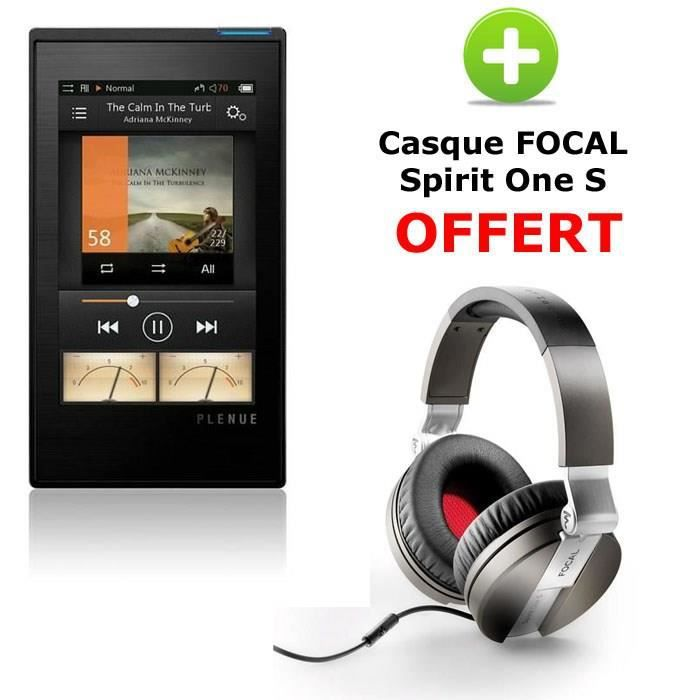 plenue 1 baladeur audiophile 128go casque focal spirit one s offert lecteur mp3 avis et. Black Bedroom Furniture Sets. Home Design Ideas