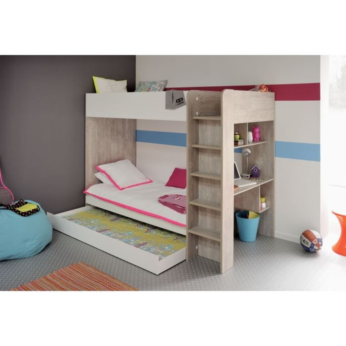 lits superpos s mezzanines achat vente lits. Black Bedroom Furniture Sets. Home Design Ideas