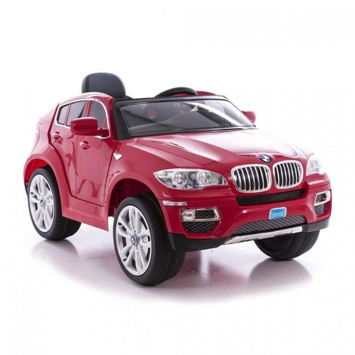bmw x6 voiture lectrique enfant 12v rouge achat vente voiture enfant cdiscount. Black Bedroom Furniture Sets. Home Design Ideas