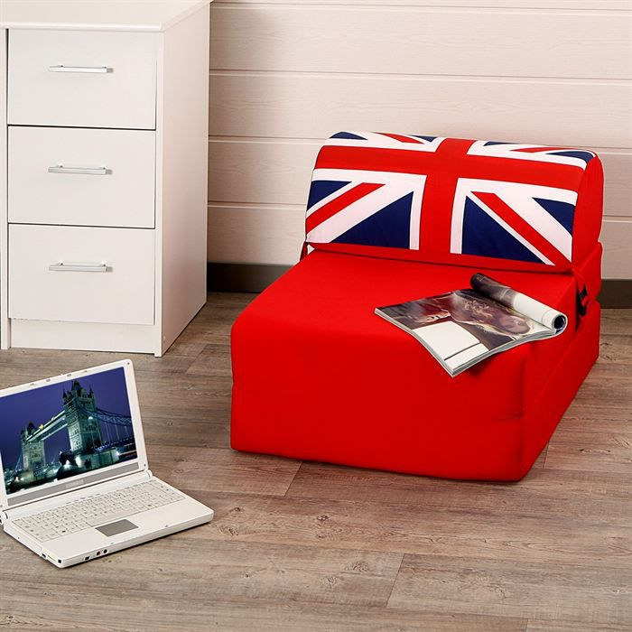chauffeuse uk london flag achat vente chauffeuse tissu cdiscount. Black Bedroom Furniture Sets. Home Design Ideas