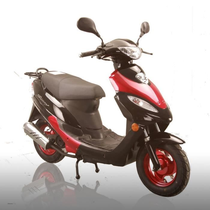 scooter sunny 50cc rouge achat vente scooter scooter sunny 50cc rouge cdiscount. Black Bedroom Furniture Sets. Home Design Ideas