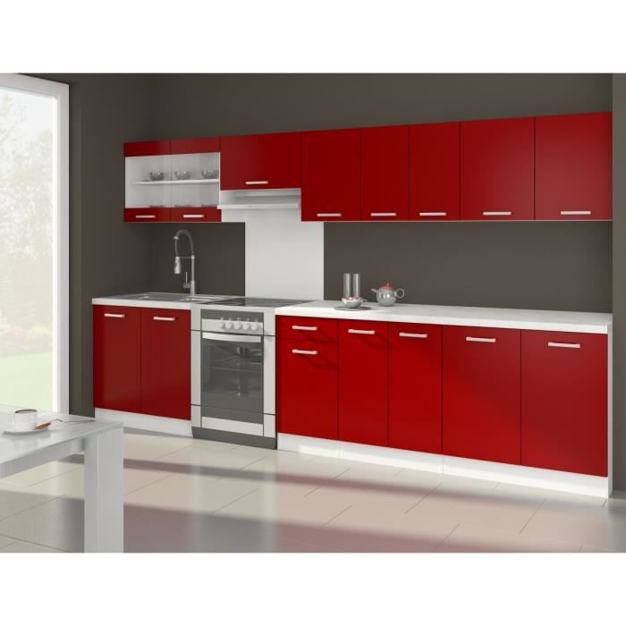 ultra xxl cuisine compl te l 3m20 rouge mat achat vente cuisine compl te ola cuisine. Black Bedroom Furniture Sets. Home Design Ideas
