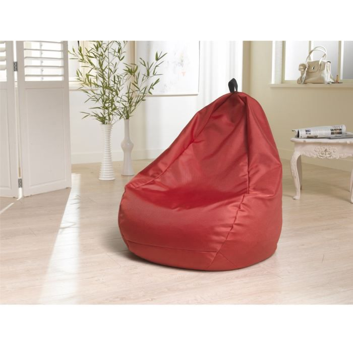 pouf poire rouge in outdoor achat vente pouf poire 100 polyester double fils 1680d. Black Bedroom Furniture Sets. Home Design Ideas