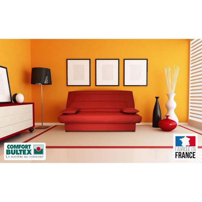 tex banquette clic clac matelas bultex rouge achat. Black Bedroom Furniture Sets. Home Design Ideas