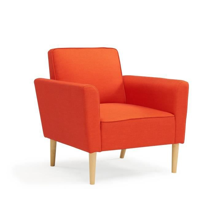 westwood fauteuil style scandinave en tissu rouge orange achat vente fauteuil rouge. Black Bedroom Furniture Sets. Home Design Ideas