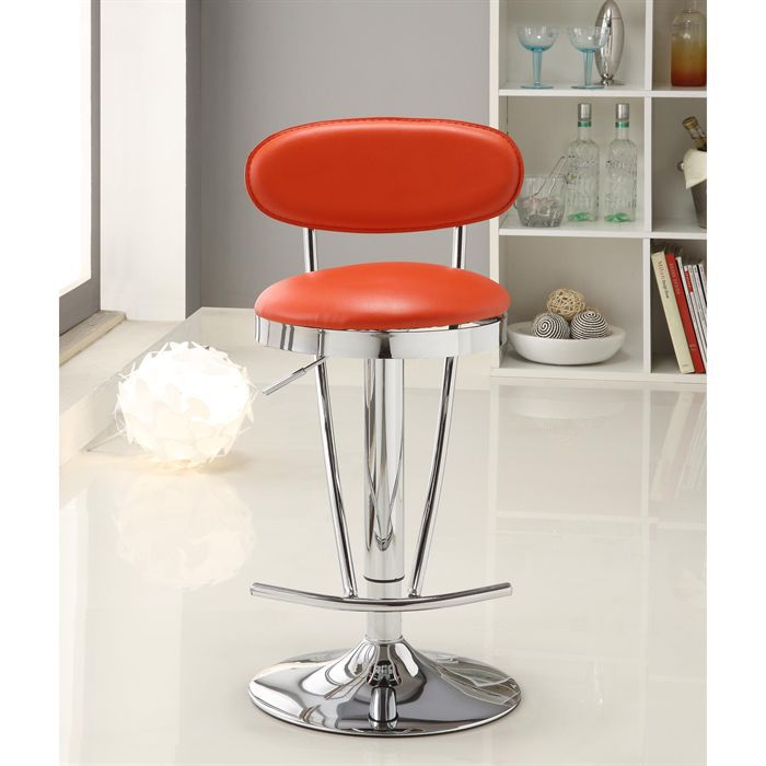 Tabouret de bar rouge moncornerdeco - Tabourets de bar rouge ...