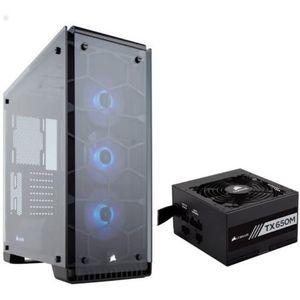 BOITIER PC  CORSAIR Pack Boitier PC Crystal 570X RGB + Aliment