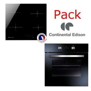 LOT APPAREIL CUISSON Pack four + table vitro CONTINENTAL EDISON