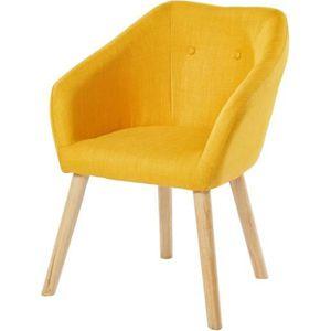 CANAPÉ - SOFA - DIVAN HILDA Fauteuil - Tissu jaune - Scandinave - L 62 x