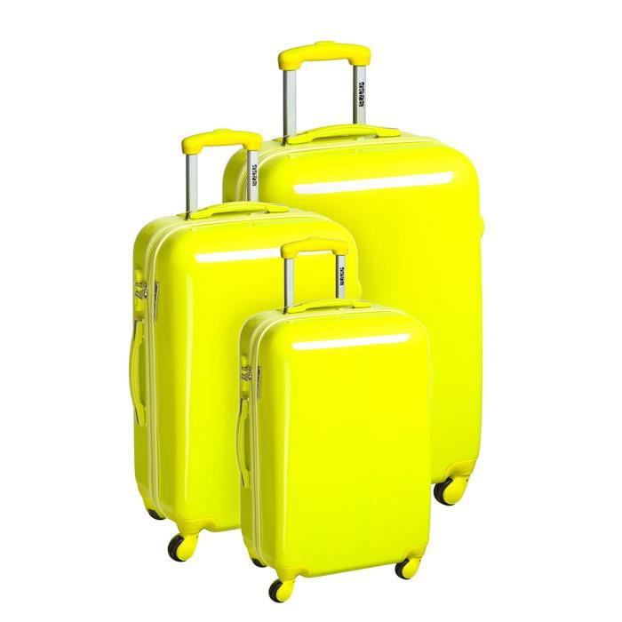 SET DE VALISES ARTS Set de 3 valises trolley 4 roues Fluo