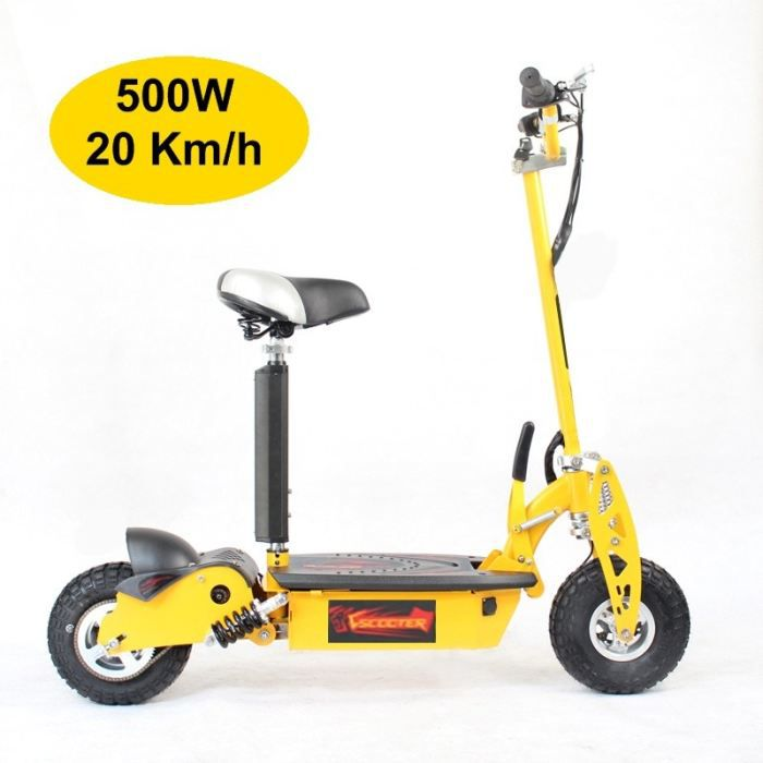 trottinette electrique adulte 500w jaune achat vente. Black Bedroom Furniture Sets. Home Design Ideas