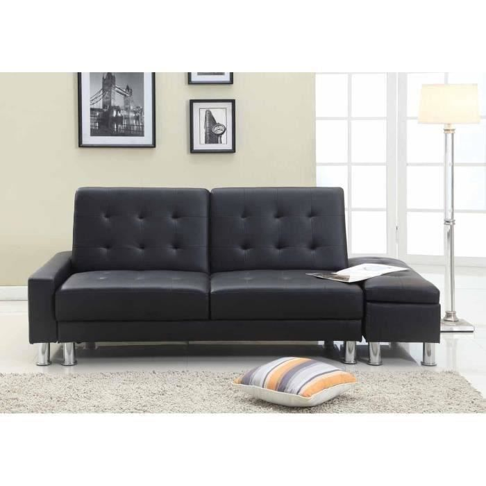dallas canap convertible coffre simili 3 places. Black Bedroom Furniture Sets. Home Design Ideas