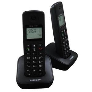 Téléphone fixe Thomson Téléphone DECT Mica Duo Répondeur Noir