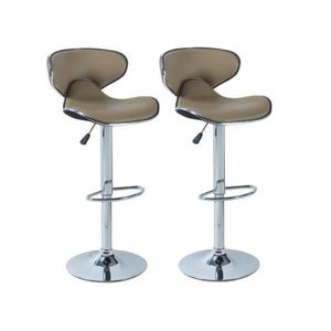 TABOURET DE BAR YORK Lot de 2 tabourets de bar réglables - Simili