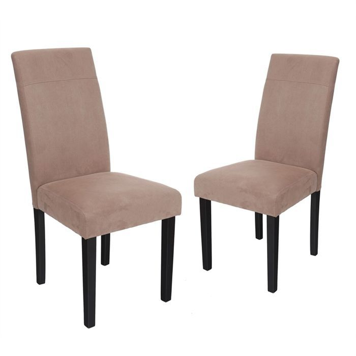 Lot de 2 chaises jerry taupe achat vente chaise for Salle a manger jerry