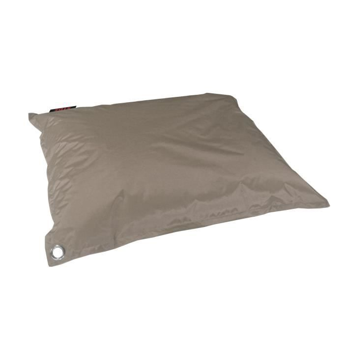Outdoor Pouf Coussin structure Taupe Ø 55x25cm