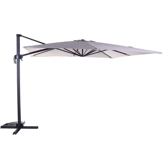 parasol alu d port 3x3m polyester 250gr taupe achat vente parasol ombrage parasol cdiscount. Black Bedroom Furniture Sets. Home Design Ideas