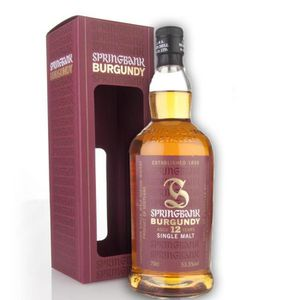 WHISKY BOURBON SCOTCH Springbank 12 ans Cask strength 53.5 burgundy
