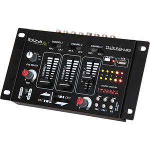 TABLE DE MIXAGE IBIZA DJ21USB-MKII Table de mixage à 4 voies/7 can